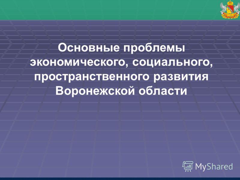 4 Основные проблемы экономического, социального, пространственного развития Воронежской области