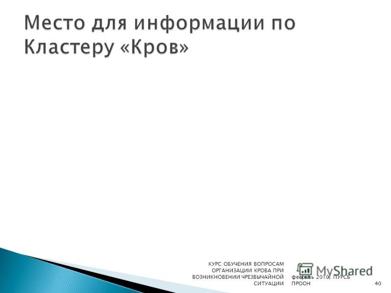 февраль 2010, ПУРСБ ПРООН КУРС ОБУЧЕНИЯ ВОПРОСАМ ОРГАНИЗАЦИИ КРОВА ПРИ ВОЗНИКНОВЕНИИ ЧРЕЗВЫЧАЙНОЙ СИТУАЦИИ40