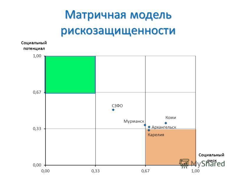Матричная модель рискозащищенности