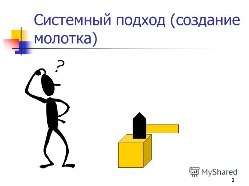3 Системный подход (создание молотка)