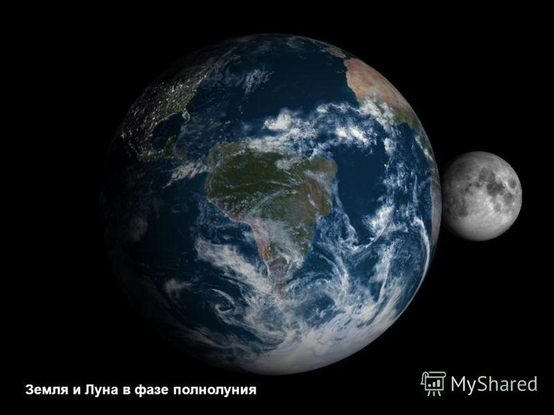 Земля и Луна в фазе новолуния