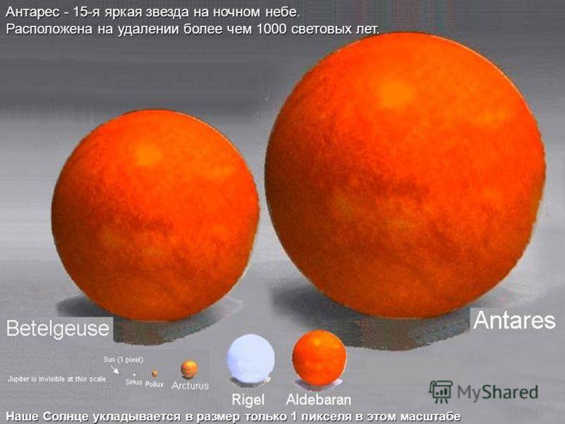 Солнце Сириус Арктурус Земля невидима в этом масштабе Поллукс Юпитер составляет примерно 1 пиксель в размере