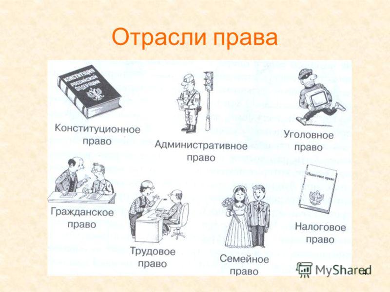 4 Отрасли права