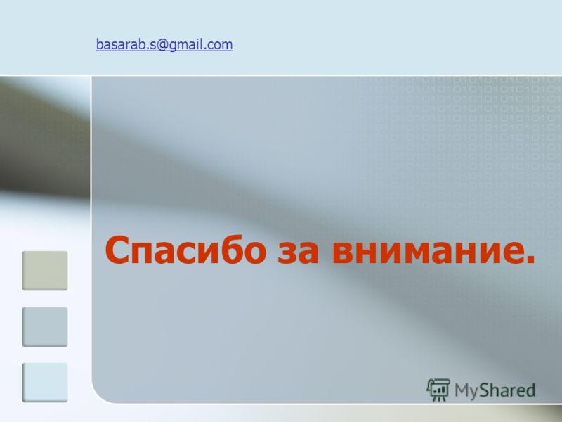 basarab.s@gmail.com Спасибо за внимание.