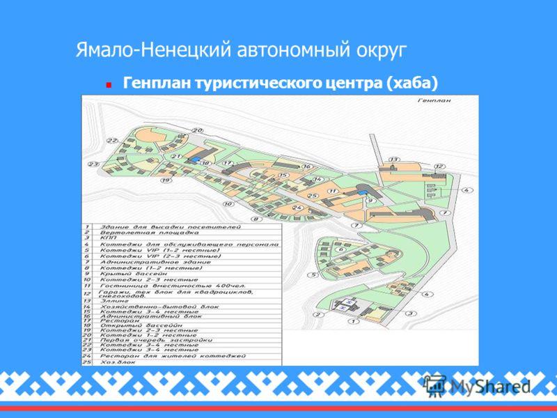 Ямало-Ненецкий автономный округ Генплан туристического центра (хаба)
