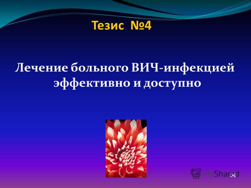36 Тезис 4 Лечение больного ВИЧ-инфекцией эффективно и доступно