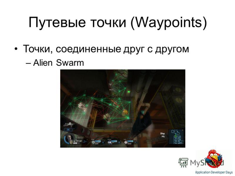 Путевые точки (Waypoints) Точки, соединенные друг с другом –Alien Swarm