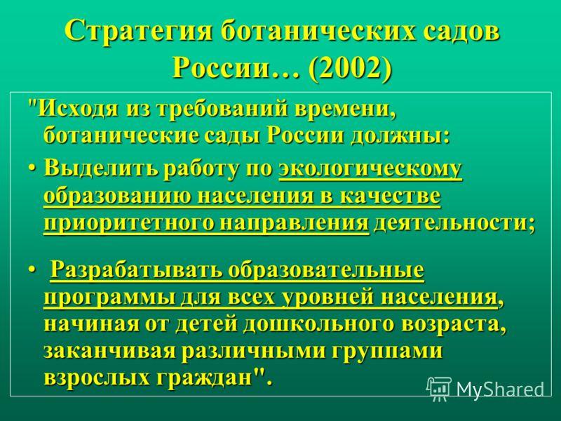 Стратегия ботанических садов России… (2002)