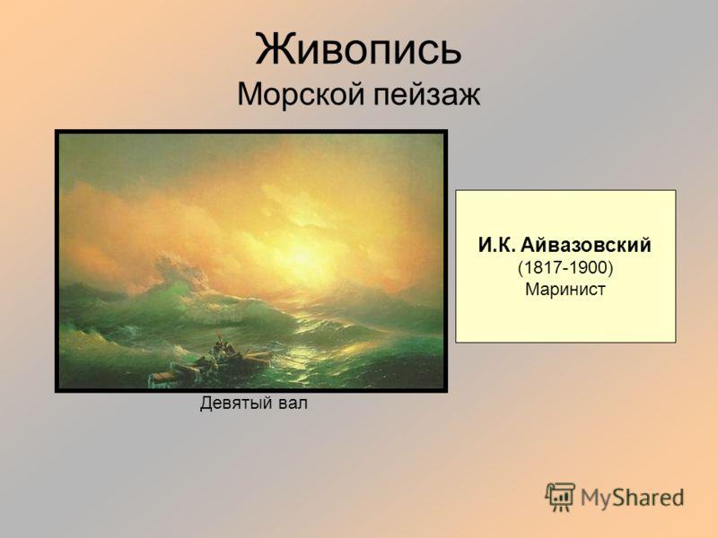 Живопись Морской пейзаж И.К. Айвазовский (1817-1900) Маринист Девятый вал