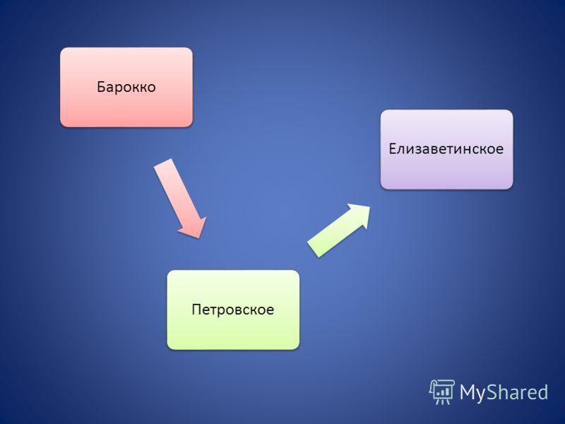 БароккоПетровскоеЕлизаветинское