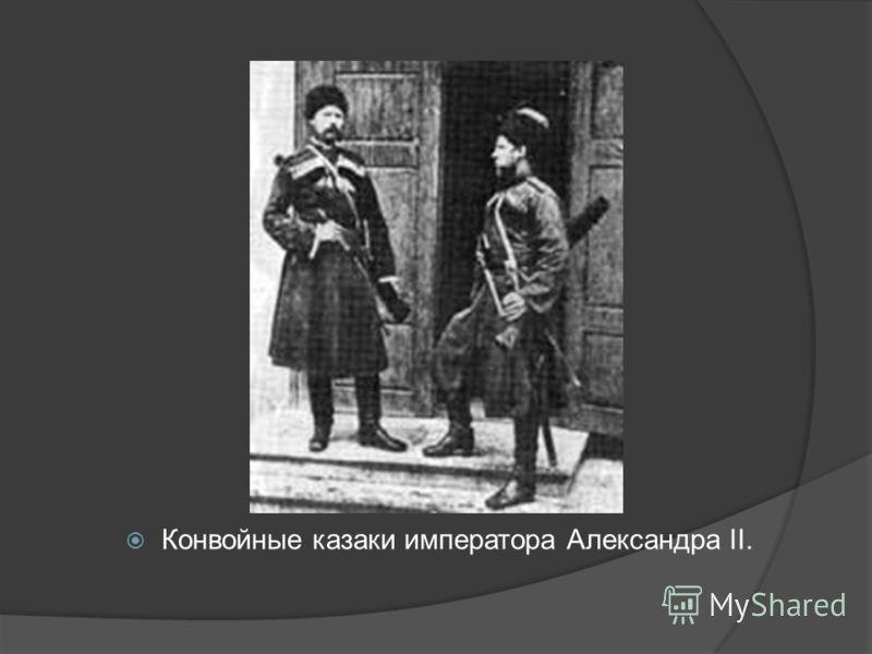 Конвойные казаки императора Александра II.