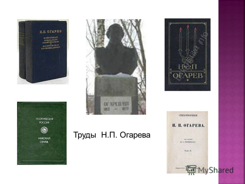 Труды Н.П. Огарева