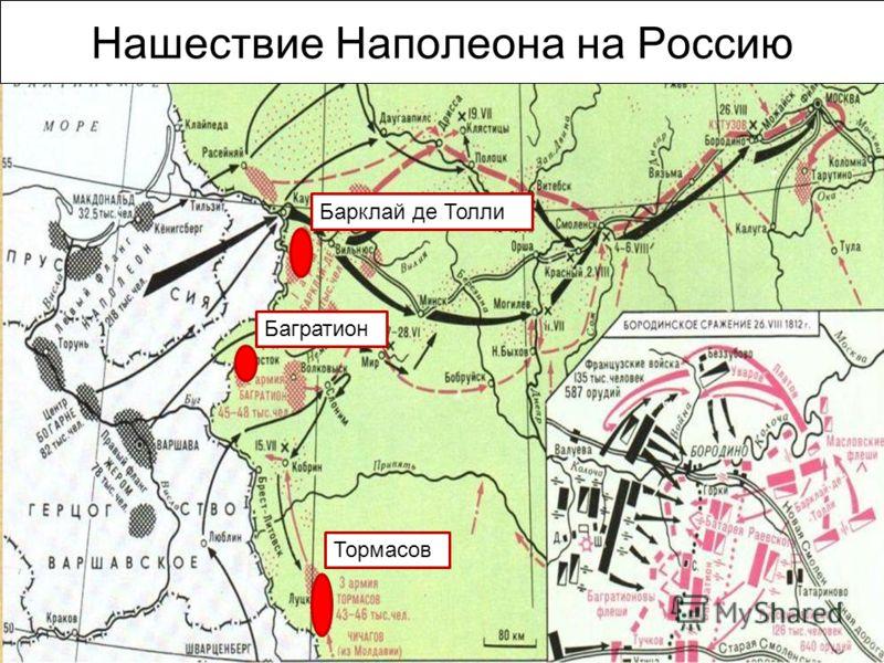 Нашествие Наполеона на Россию Барклай де ТоллиБагратионТормасов