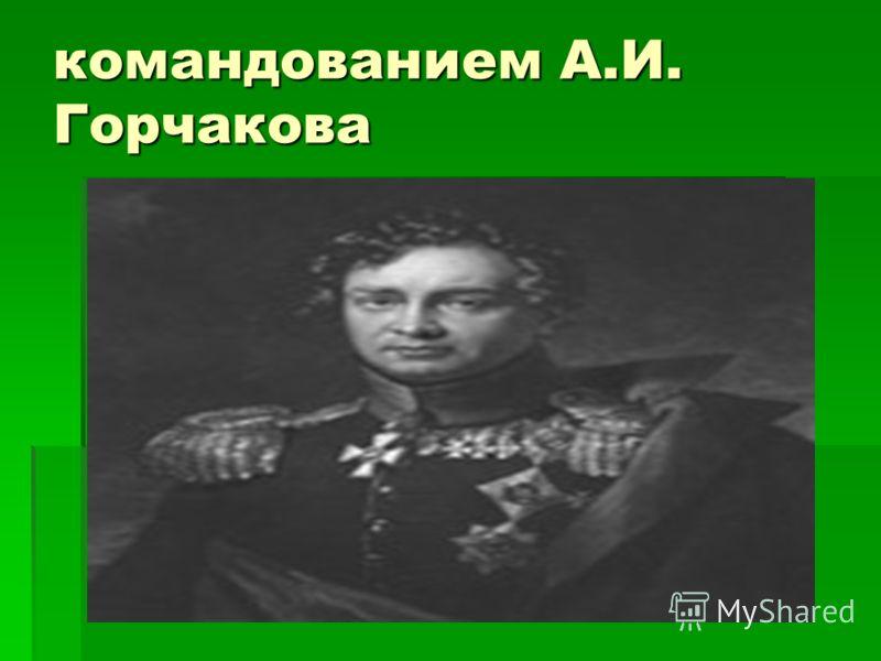 командованием А.И. Горчакова
