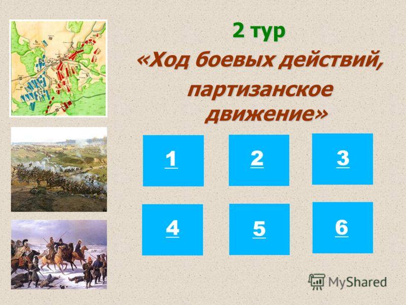 2 тур «Ход боевых действий, партизанское движение» 12 3 4 5 6