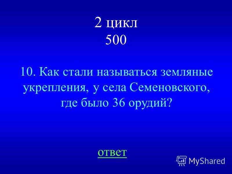 НАЗАД ВЫХОД батарея генерала Н.Н. Раевского.