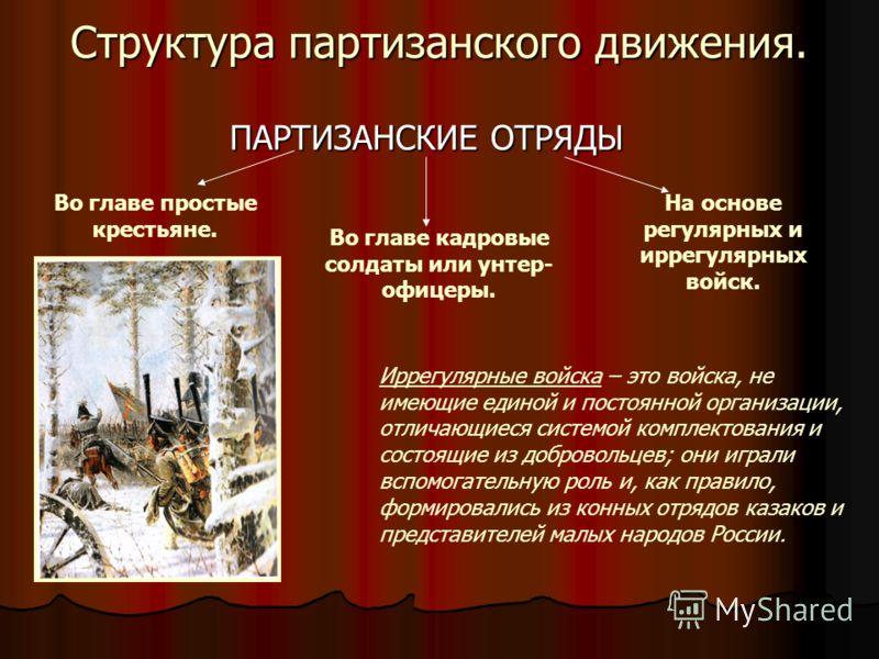 Партизаны – члены народного вооружённого отряда, самостоятельно действующего в тылу врага.
