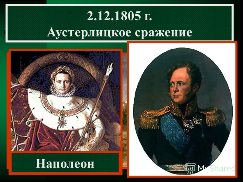 2.12.1805 г. Аустерлицкое сражение Наполеон М.И. Кутузов