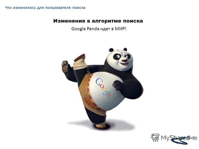 Что изменилось для пользователя поиска Изменения в алгоритме поиска Google Panda идет в МИР!