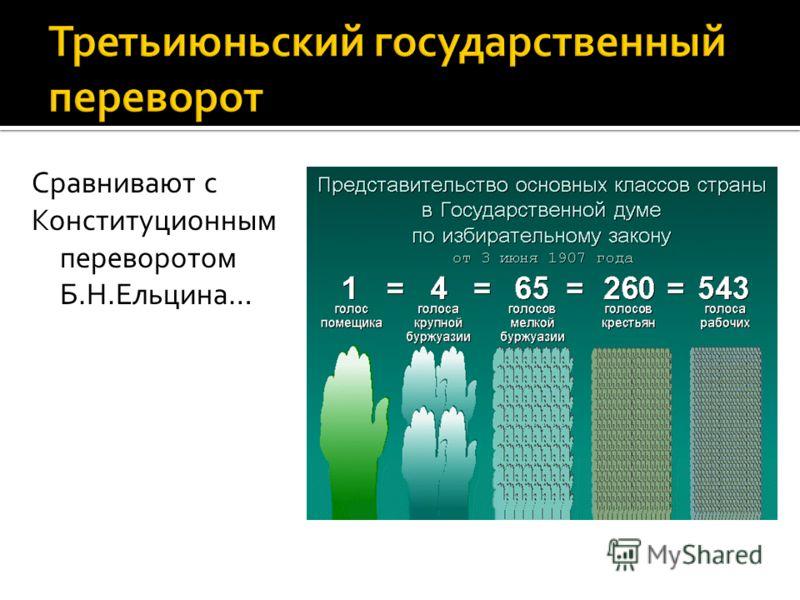 Сравнивают с Конституционным переворотом Б.Н.Ельцина…