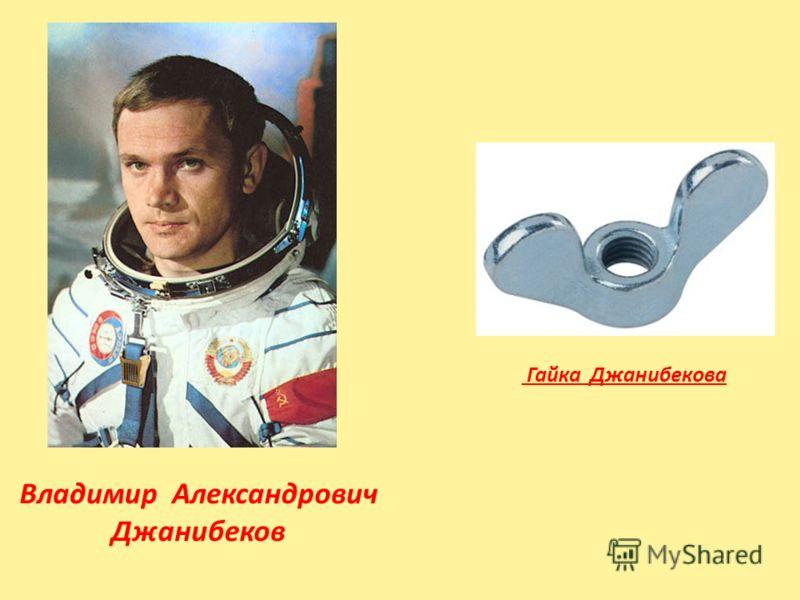 Гайка Джанибекова Владимир Александрович Джанибеков