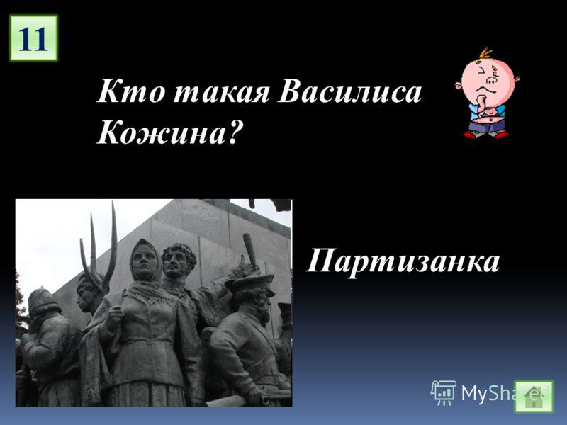 11 Кто такая Василиса Кожина? Партизанка