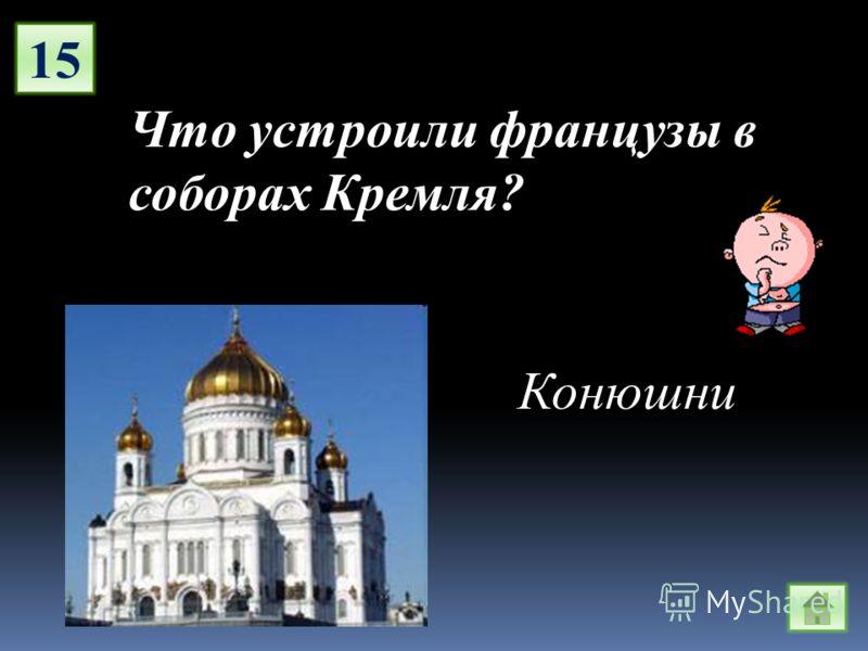 15 Что устроили французы в соборах Кремля? Конюшни