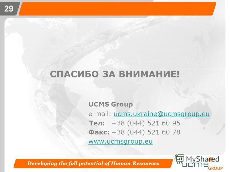 Developing the full potential of Human Resources 28 Решения в аренду