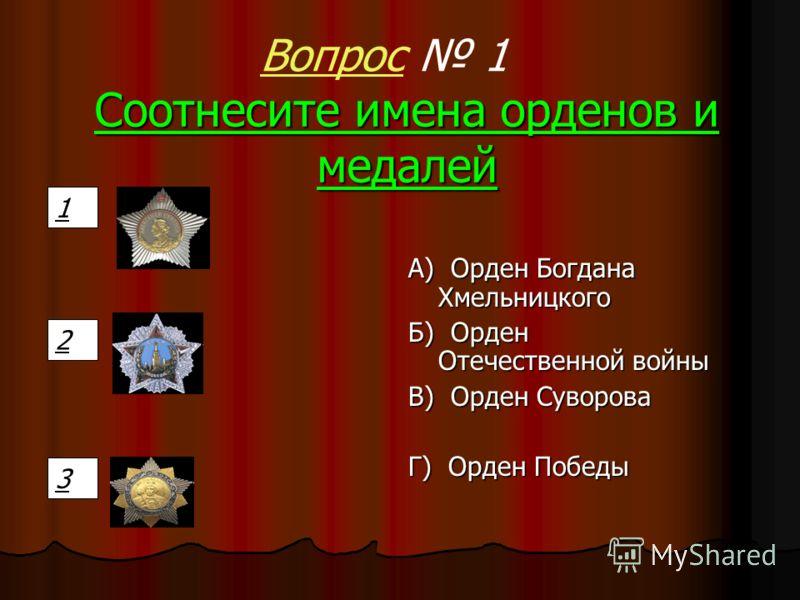Ордена и медали Победа IV тур
