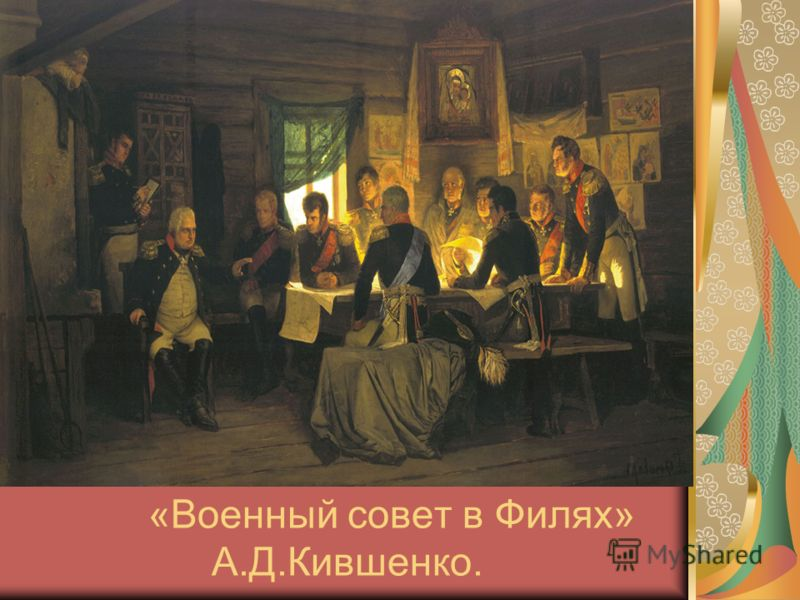 «Военный совет в Филях» А.Д.Кившенко.