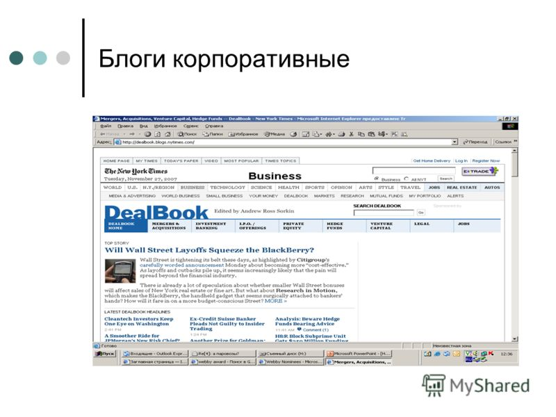 Блоги корпоративные