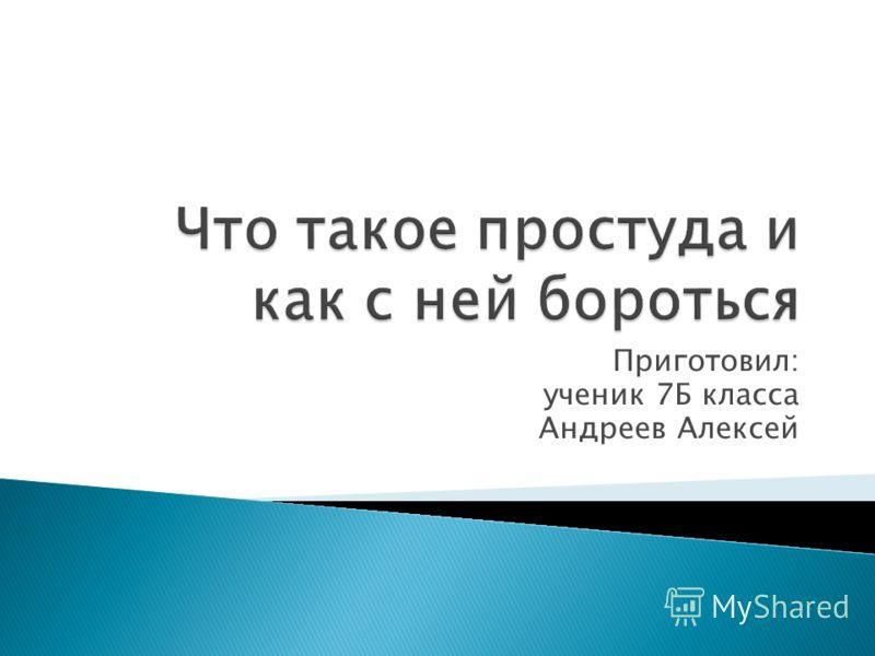 Приготовил: ученик 7Б класса Андреев Алексей