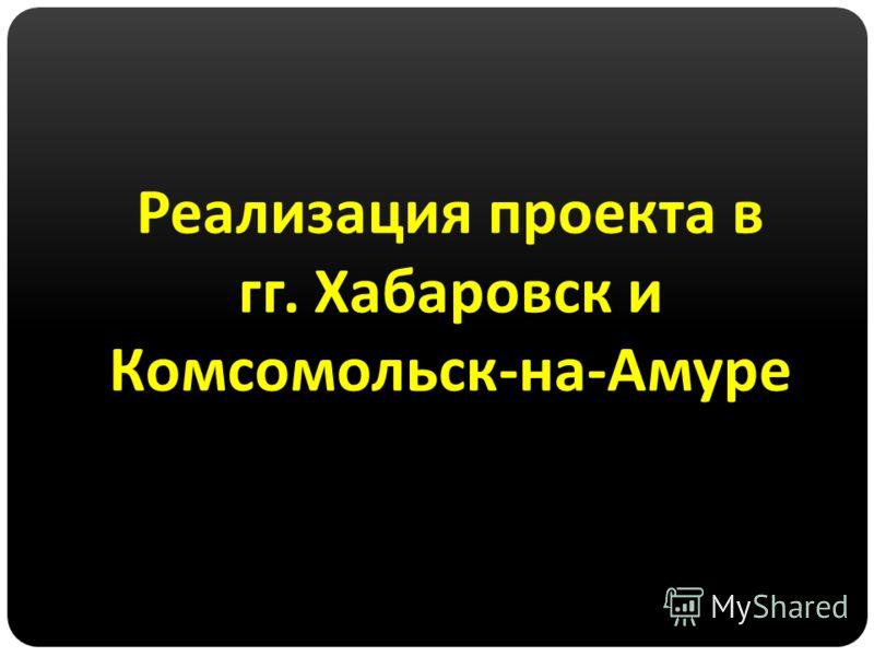 Реализация проекта в гг. Хабаровск и Комсомольск - на - Амуре