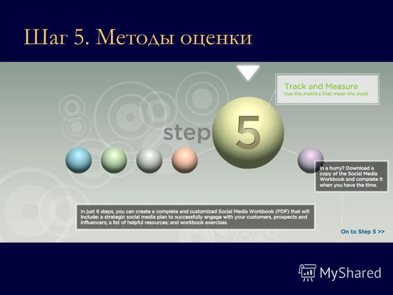 Шаг 5. Методы оценки