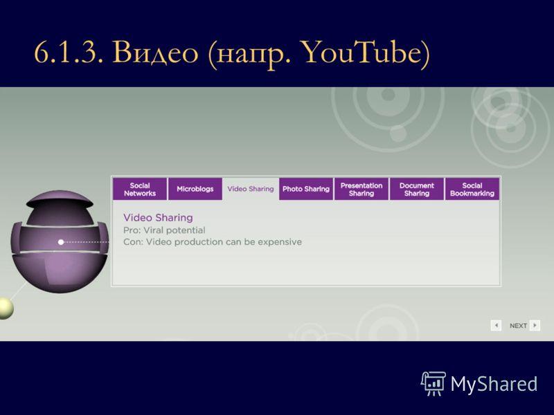 6.1.3. Видео (напр. YouTube)