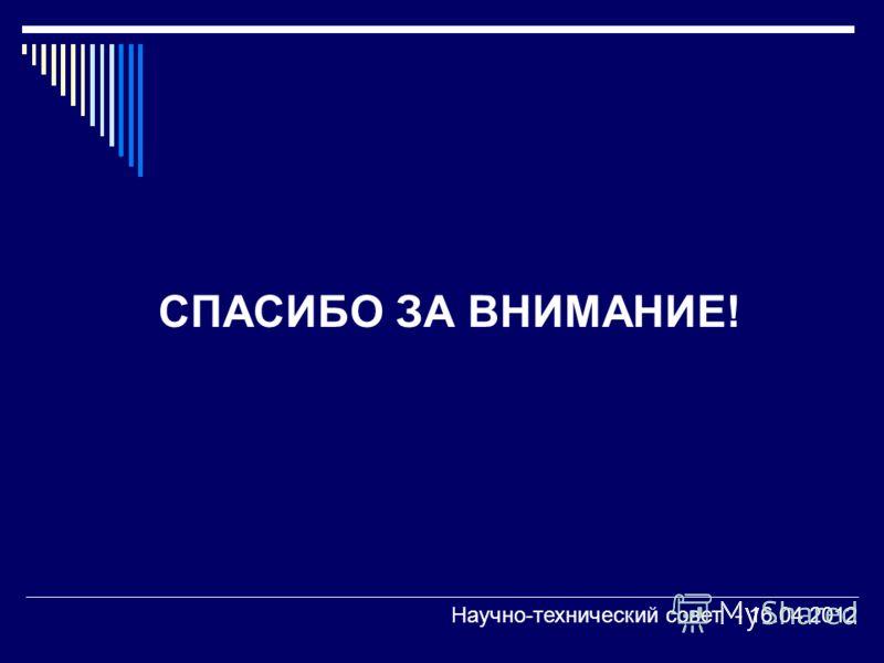 СПАСИБО ЗА ВНИМАНИЕ! Научно-технический совет - 16.04.2012
