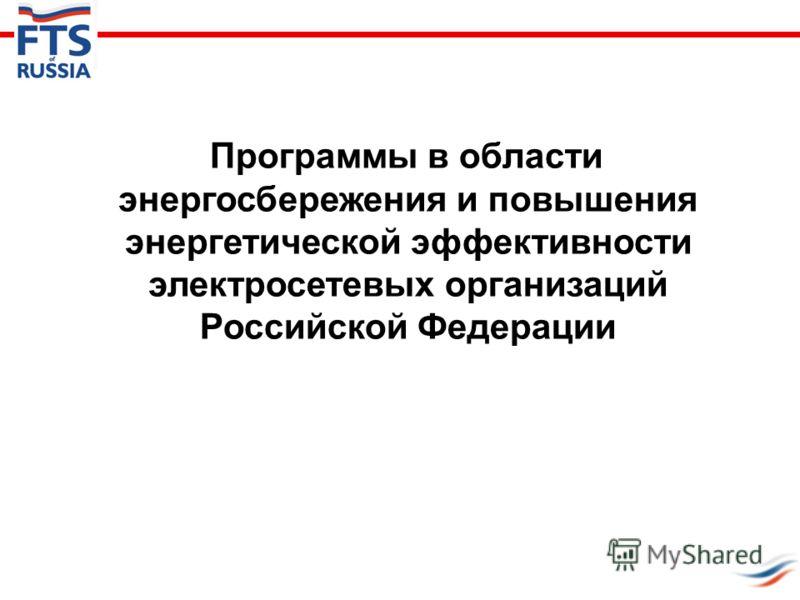 Программы в области энергосбережения и повышения энергетической эффективности электросетевых организаций Российской Федерации