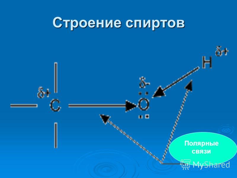 Строение спиртов Полярные связи