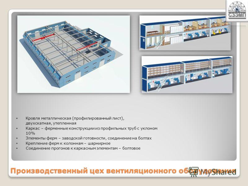 Производственный цех вентиляционного оборудования I вариант S = 2700 м2II вариант S = 1544м2
