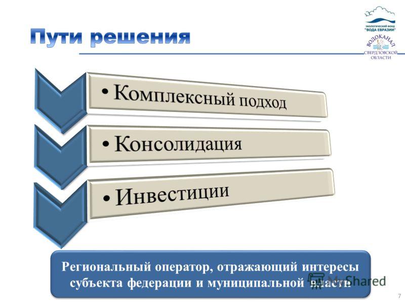 7 Региональный оператор, отражающий интересы субъекта федерации и муниципальной власти