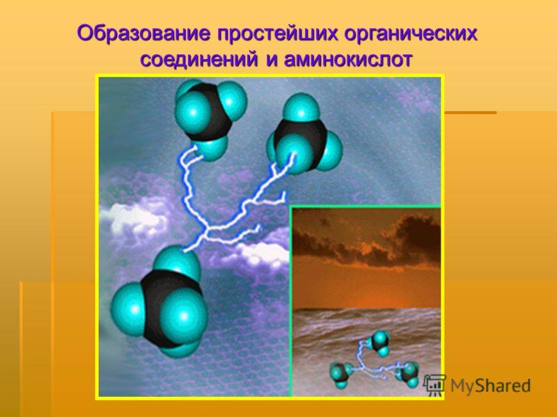 Образование простейших органических соединений и аминокислот
