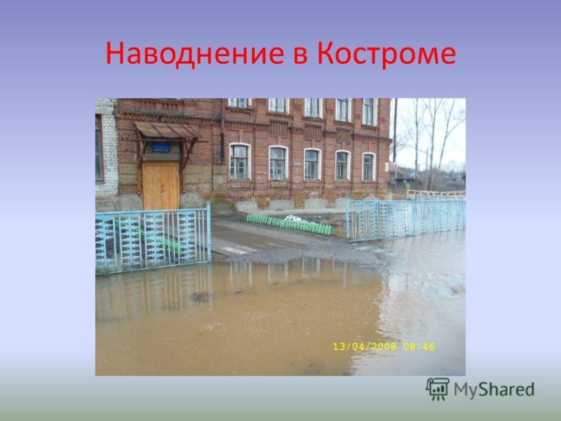 Наводнение в Костроме
