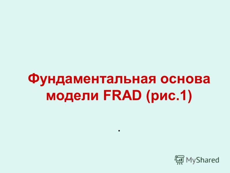 Фундаментальная основа модели FRAD (рис.1).