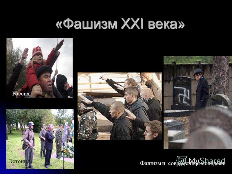 «Фашизм ХХI века» Эстония Россия Фашизм и современная молодёжь