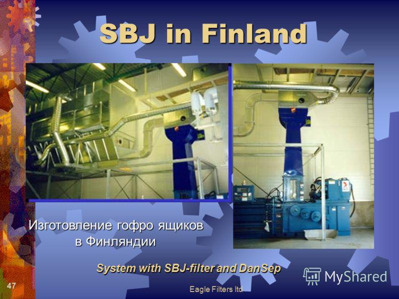 Eagle Filters ltd 47 System with SBJ-filter and DanSep SBJ in Finland Изготовление гофро ящиков в Финляндии
