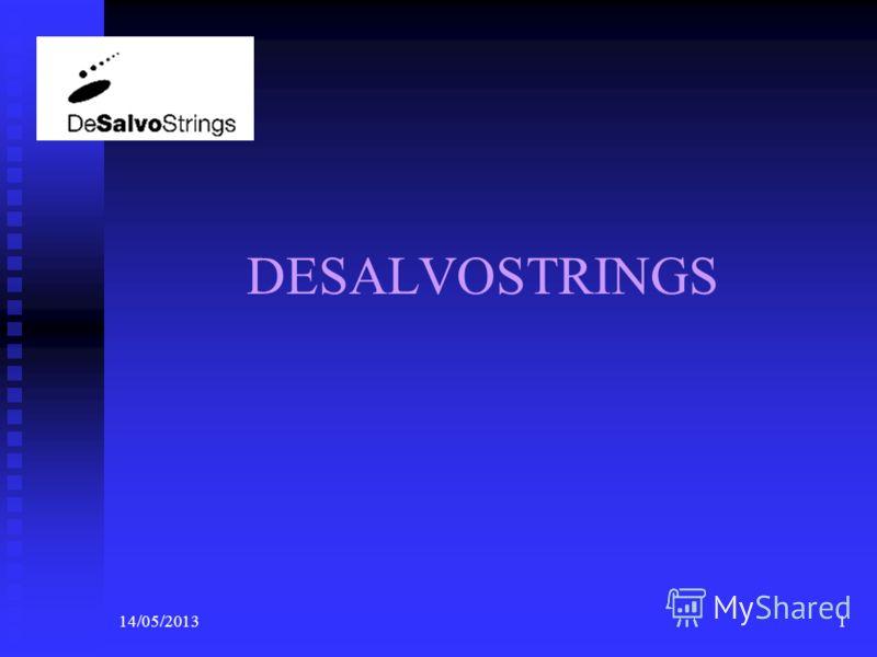 14/05/20131 DESALVOSTRINGS Logo della società