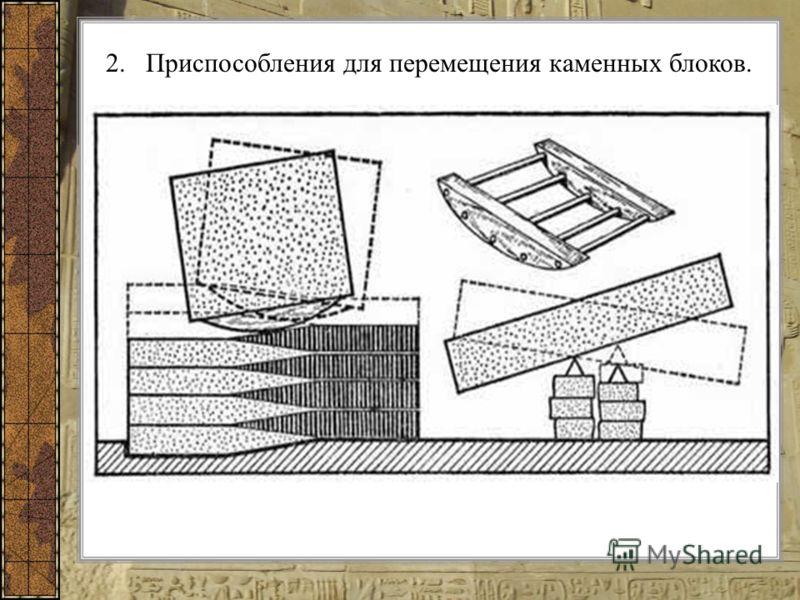 2.Приспособления для перемещения каменных блоков.