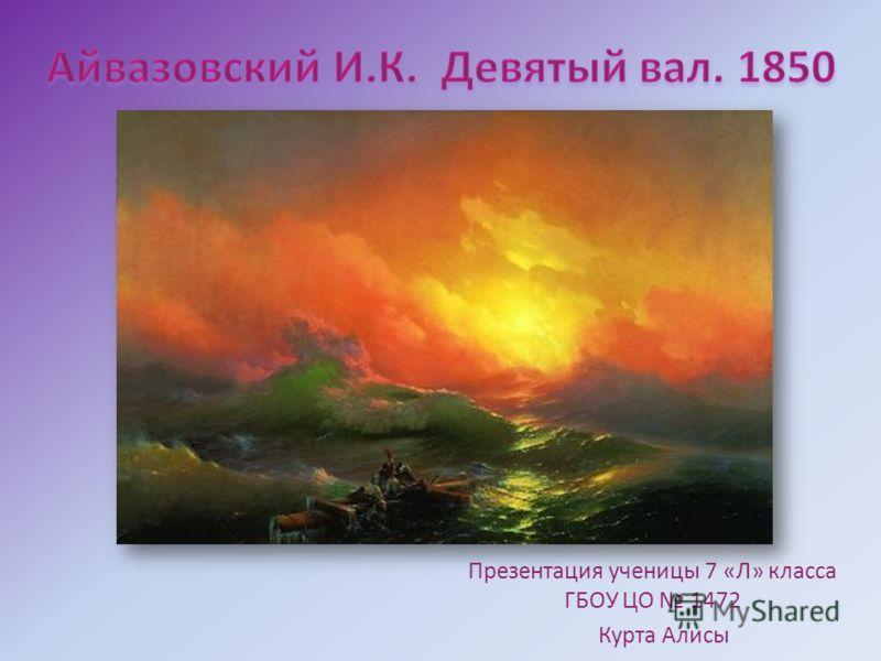 Презентация ученицы 7 «Л» класса ГБОУ ЦО 1472 Курта Алисы
