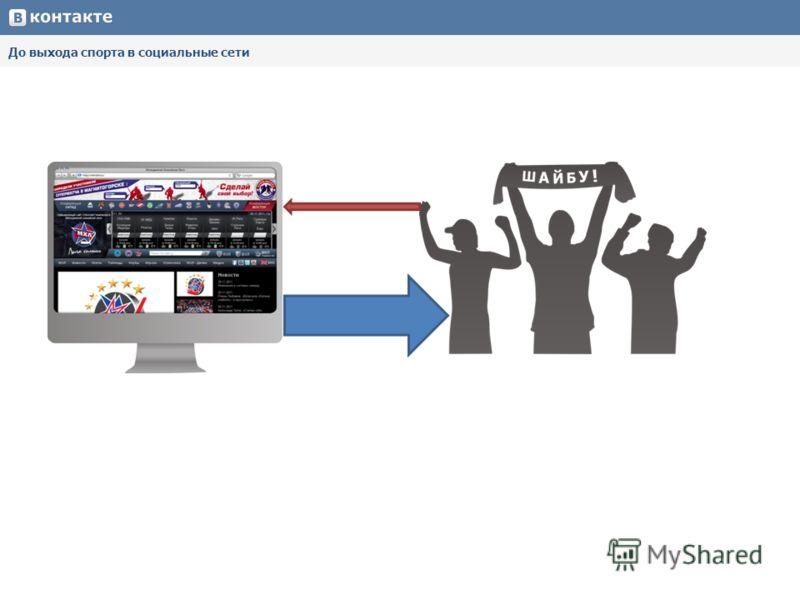 До выхода спорта в социальные сети