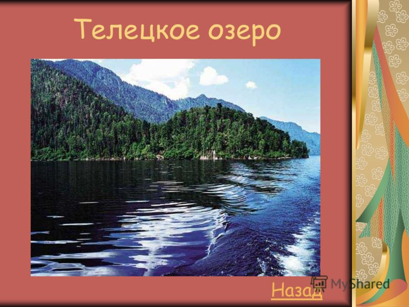 Телецкое озеро Назад